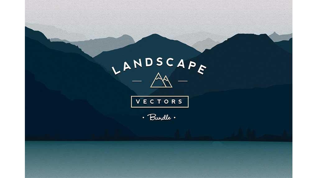 دانلود وکتور کوه و منظره Vector Landscapes Bundle