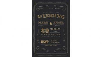 دانلود فایل لایه باز کارت دعوت عروسی Vintage Wedding Invitation