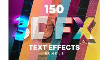 دانلود افکت متن سه بعدی برای فتوشاپ 3D Text Effects for Photoshop