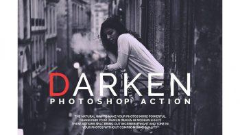 اکشن فتوشاپ برای اصلاح رنگ تاریک – Darken Photoshop Actions