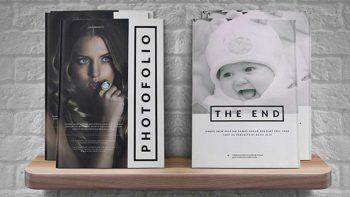 دانلود قالب آماده ایندیزاین مجله A4 Photofolio template