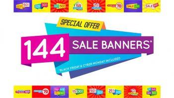 دانلود فایل لایه باز بنر تبلیغاتی Awesome Sale Banners