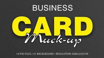 دانلود موکاپ کارت ویزیت Business Card Mockup