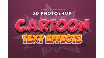 دانلود استایل کمیک بوک Cartoon Text Effects