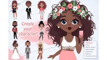 دانلود جعبه ابزار ساخت کاراکتر موشن گرافیک دختر و پسر Character Creator! Boys & Girls