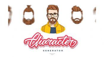دانلود جعبه ابزار ساخت چهره کارتونی مرد Character Generator