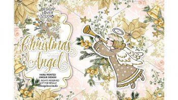 دانلود وکتور کریسمس Christmas Angel design