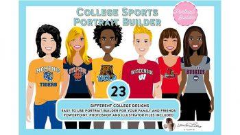 دانلود جعبه ابزار ساخت کاراکتر موشن گرافیک ورزشی College Sports Portrait Creator