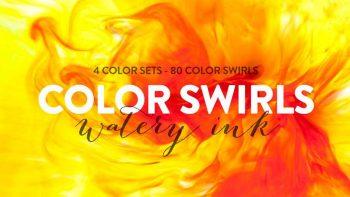 دانلود تکسچر جوهر رنگی Color Swirls – Watery Ink