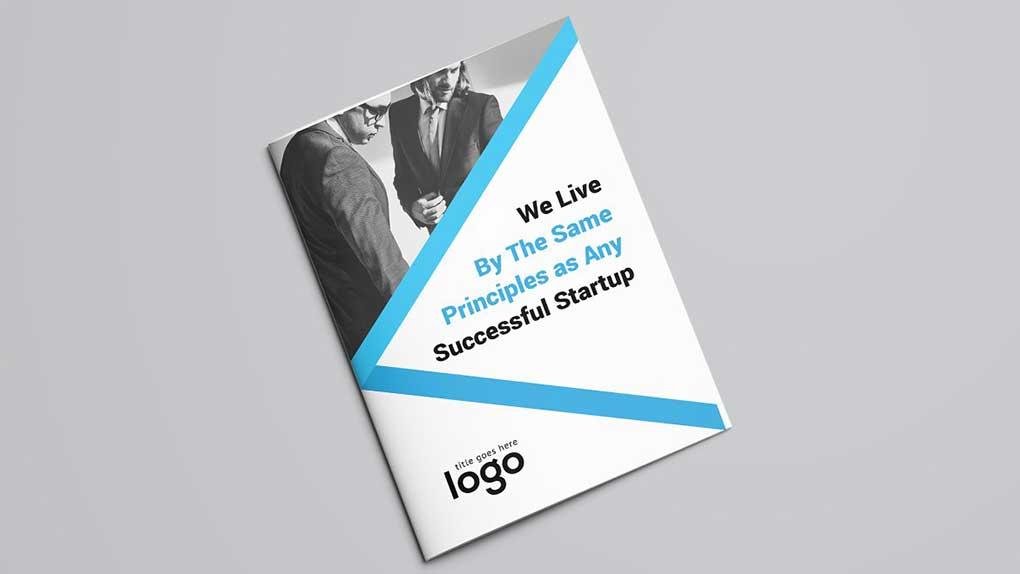 وکتور بروشور Creative Bifold Brochure