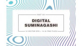 دانلود تکسچر کاغذ Digital Suminagashi 001