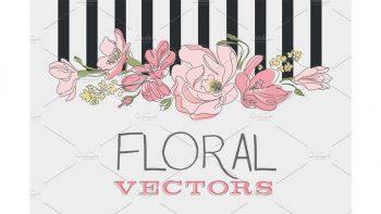 دانلود وکتور گل Floral Vectors