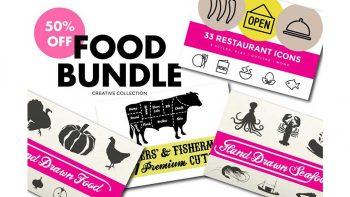 دانلود وکتور غذا Food Bundle