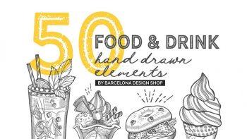 دانلود کلیپ آرت غذا و نوشیدنی با طراحی دستی Food & Drink Illustrations