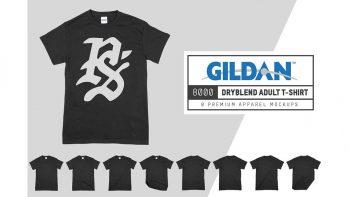 دانلود موکاپ تیشرت Gildan 8000 DryBlend Adult T-Shirt