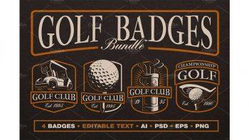 دانلود فایل لایه باز لوگو گلف Golf Logo Templates