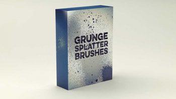 دانلود براش لکه جوهر Grunge Splatter Brushes