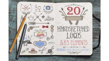 دانلود وکتور لوگو با طراحی دستی Hand drawing logo bundle 2 Vintage