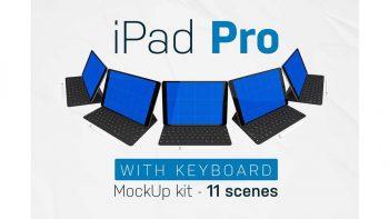 دانلود موکاپ آیپد و کیبورد iPad Pro & Keyboard kit