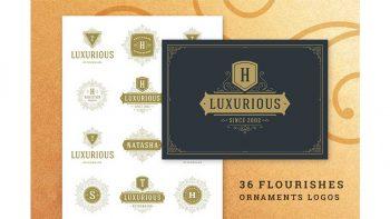 دانلود فایل لایه باز لوگو لوکس Luxury Ornament Logos