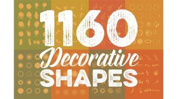 دانلود فایل لایه باز اشکال تزئینی Megabundle: 1160 Decorative Shapes