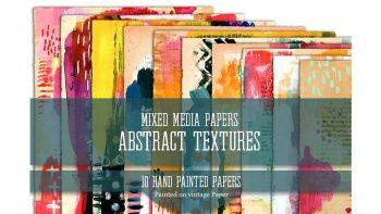 دانلود تکسچر کاغذ با نقاشی رنگ روغن و پاستل Mixed Media Papers Abstract Textures