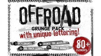 دانلود وکتور رد لاستیک Off-Road Grunge Pack