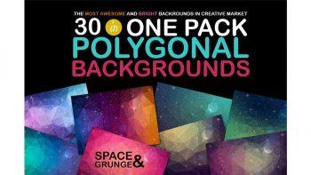 دانلود بک گراند چند ضلعی Polygonal Space Backgrounds