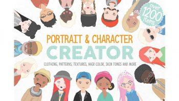 دانلود جعبه ابزار ساخت چهره کاراکتر موشن گرافیک Portrait & Character Creator