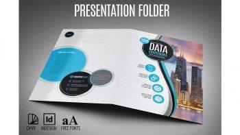 دانلود فایل لایه باز پوشه و فولدر تبلیغاتی Presentation Folder