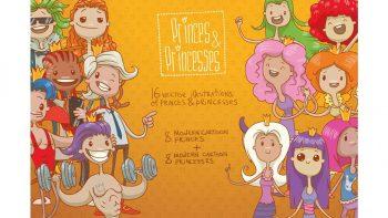 دانلود کاراکتر دو بعدی Princes & Princesses bundle