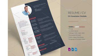 دانلود فایل لایه باز ایندیزاین رزومه Resume CV