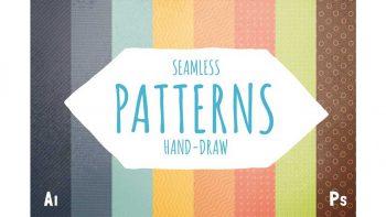 دانلود پترن خط و نقطه با طراحی دستی Retro hand-draw patterns