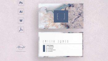 دانلود فایل لایه باز کارت ویزیت Sakura business card template