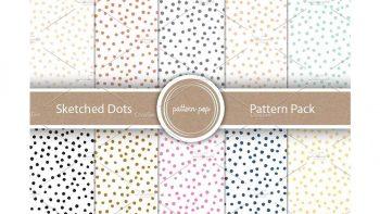 دانلود پترن نقطه ایی Sketched Dots Pattern Pack