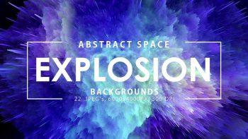 دانلود بک گراند انفجار فضایی Space Explosion Backgrounds