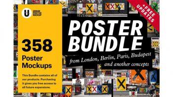 دانلود موکاپ پوستر شهری Urban Poster Mockup Bundle