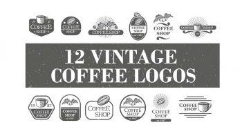 دانلود فایل لایه باز لوگو کافی شاپ Vintage Coffee Logos & Badge