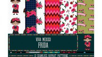 دانلود پترن با تم مکزیکی Viva Mexico Frida