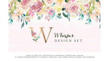 دانلود کلیپ آرت دسته گل Watercolor Design Project – Whisper