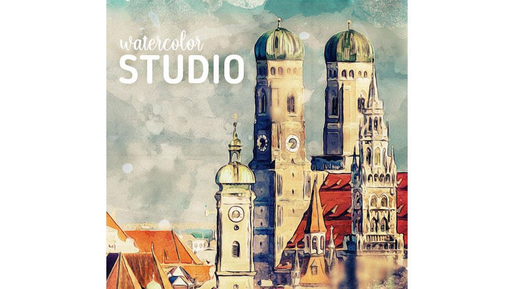 دانلود اکشن نقاشی آبرنگی برای فتوشاپ – Watercolor Studio