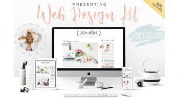 دانلود وکتور طراحی وب سایت Web Design Kit for Bloggers