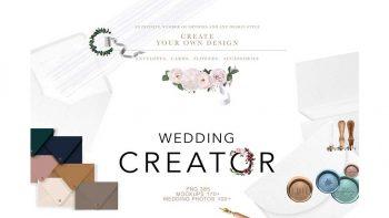 دانلود موکاپ و ابزار طراحی کارت دعوت عروسی WEDDING – SUPER CREATOR