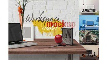 دانلود موکاپ ست اداری Workspace Mockup Creator