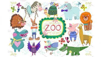 دانلود وکتور باغ وحش Zoo