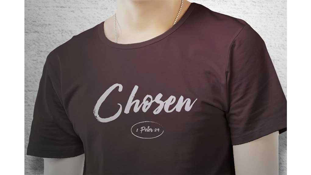 وکتور تیشرت Chosen T-Shirt Art Template