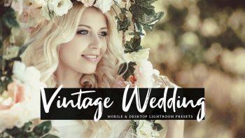 دانلود پریست لایت روم عکس عروس – Vintage Wedding Lightroom Presets