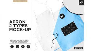 دانلود موکاپ پیش بند Apron 2 Types Mock-up