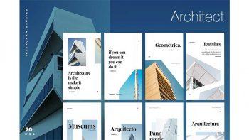 دانلود فایل لایه باز استوری معماری اینستاگرام Architect – Instagram stories