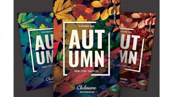 دانلود فایل لایه باز پوستر پاییزی Autumn Flyer